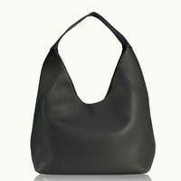 GiGi New York Sasha Hobo Black Pebble Grain Leather