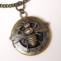 Honey Bee Locket, Necklace Pendant