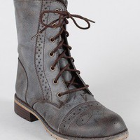 Lug-13 Perforated Lace Up Military Combat Boot