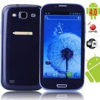 buy cheap Dual SIM Quad Band MTK6575 Android 4.0 with 4.8 Capacitive WIFI GPS 3G Phone(Black) wholesale on China Gadget Land