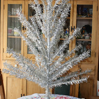 Vintage 1940s 1950s Christmas Tree Aluminum by EmeliasCupboard