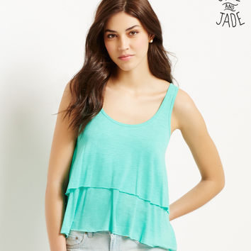 Aeropostale  Solid Tiered Swing Top