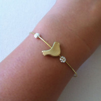 Gold bangle, Wire Wrap bangle