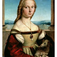 Portrait of a Young Woman with a Unicorn, circa 1505-6 Giclee Print by Raphael at AllPosters.com