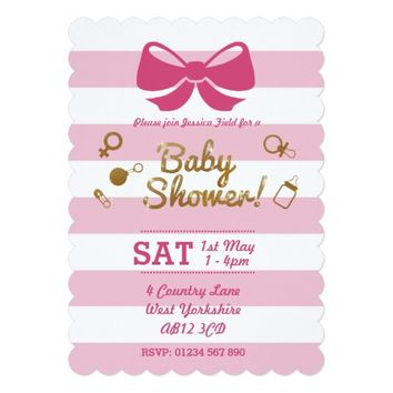 Gold and Pink Custom Baby Shower