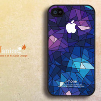 cool  iphone cases 4, iphone 4s cases, apple iphone case 4,iphone 4 cover , with blue glass design F404