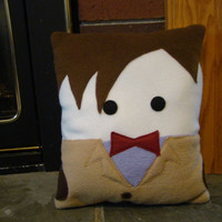 Doctor Who plush pillow,  Matt Smith, 11th Dr decorative pillow