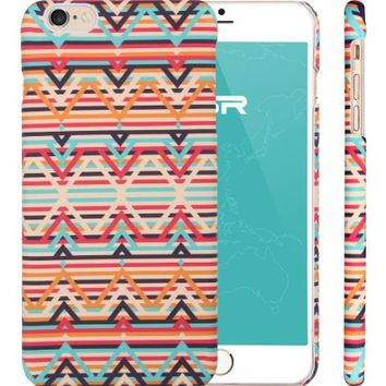 iPhone 6 Case, llustration Case, ESR Illustrators Series Protective Case [Scratch-Resistant] [Perfect Fit] [Anti-Slip] [Good Grip] Hard Back Cover with Exquisite Print for 4.7 inches iPhone 6(African Colour Stripes)