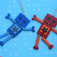 Best Friends Wiggle Bot Necklace Set