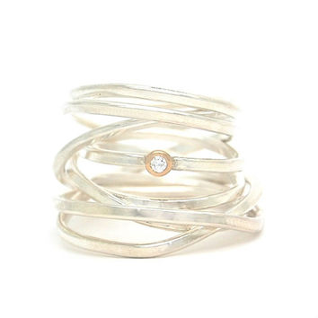 Bound Ring in Silver
