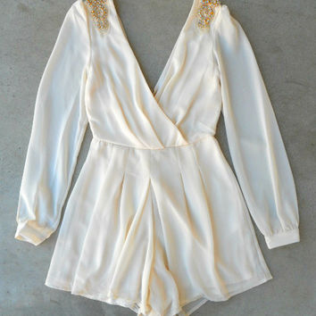 Arctic Nights Party Romper [6464] - $54.00 : Feminine, Bohemian, & Vintage Inspired Clothing at Affordable Prices, deloom