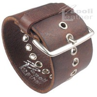 Distressed Vintage ITALIAN Leather Bracelet Unisex 6BR