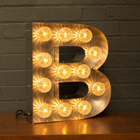 Marquee Light Up Letter - B – Goodwin & Goodwin™ - Signs that Rock! London Sign Makers UK