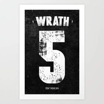 7 Deadly sins - Wrath Art Print by HappyMelvin