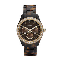 FOSSIL® Watch Styles Neutral Watches:Women Stella Resin Watch - Tort with Gold-Tone ES2795