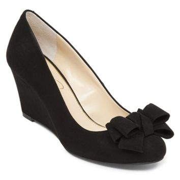 Jessica Simpson Sheryl Wedge Pump with Bow at Von Maur