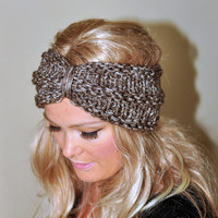 Turban Headband Crochet Head wrap Knit ear warmer Earwarmer CHOOSE COLOR Birch Natural Warm Knit Gift under 25