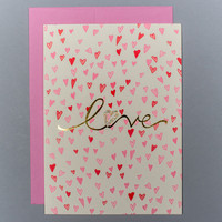 Sparkly Love Heart Card
