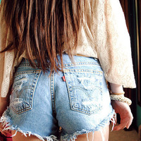Levi Strauss High Waist Shorts