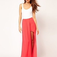 ASOS Maxi Skirt in High Low Hem at asos.com