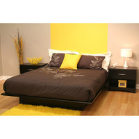 Walmart: South Shore Basics Queen Platform Bed with Molding, Black