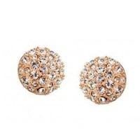 Champagne Austrian Crystal Earrings Studs for Women