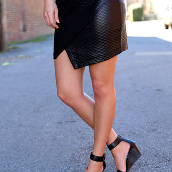Leather Together Skirt