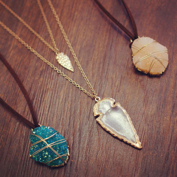 Peacekeeper Arrowhead Necklace Set