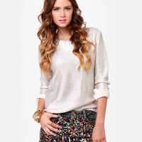 Dressy Sequin Shorts - Cutoff Shorts - Denim Shorts - $39.00