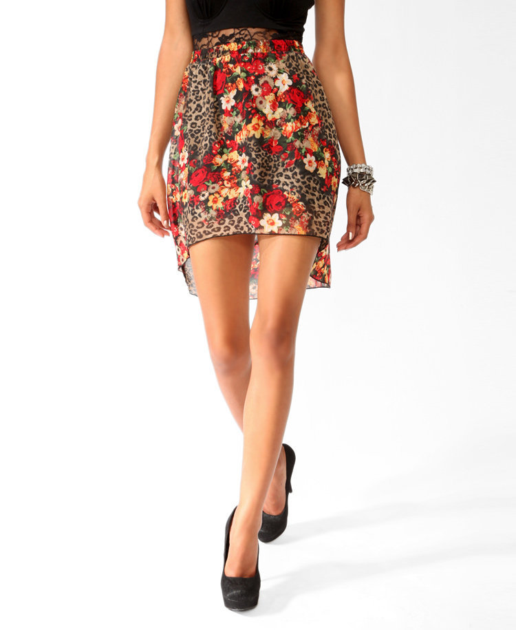 high low floral skirt from forever 21 skirts