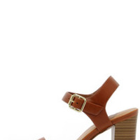 In Any Event Tan High Heel Sandals