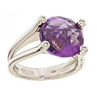 Trésor Amethyst and Diamond Dazzle Ring - Max and Chloe