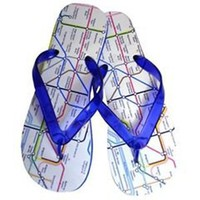 Fashion: Flip flops underground map
