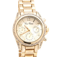 rhinestone-trim-watch GOLD SILVER - GoJane.com