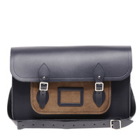 "The Cambridge Satchel Company 15"" Leather Satchel with Cord Pocket at asos.com"