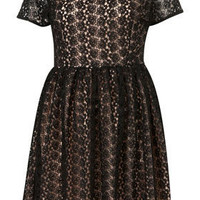 50s Crochet Skater Dress - Dresses  - Apparel