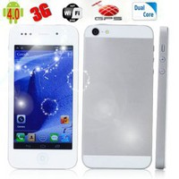 buy cheap Phone5 Dual Core Android 4.0 MTK6577 4.0 Capacitive GPS WIFI 3G Phone wholesale on China Gadget Land