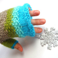 women gloves, fingerless gloves, blue fingerless gloves