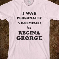 Personally Victimized by Regina George-Unisex Light Pink T-Shirt
