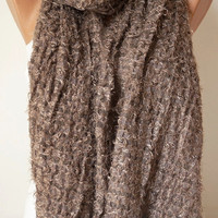 Motto, dark beige Shawl, wrap, very soft scarf