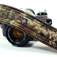 Camo dSLR Camera Strap, Pocket, Binoculars, Camo, Green, Brown, SLR