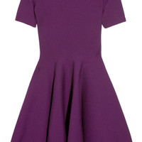 Yves Saint Laurent | Stretch wool-blend flared dress | NET-A-PORTER.COM