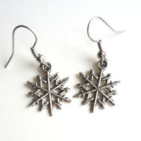 Simple Snowflakes - earrings