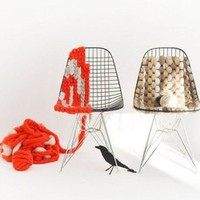 Knitting Eames Wire Chair | materialicious