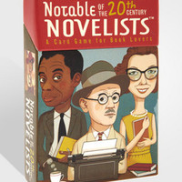 Notable Novelists Card Game | 20th Century Novelists | fredflare.com