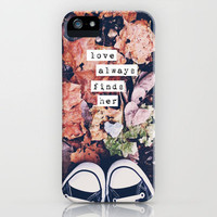 love always finds her iPhone Case by Beverly LeFevre | Society6