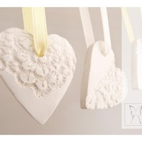 French Lace Ornaments - Heart Shape.. on Luulla