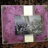 Purple Flowers Frame - 8x10 Base with 4x6 Horizontal Photo - Wall Decor - READY TO SHIP