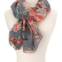 Summer Blossom Woven Scarf: Charlotte Russe