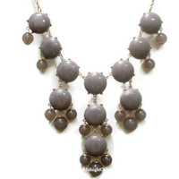 Free Necklace W/ Purchase: Bubble Necklace, Bubble Statement Necklace, Gray Bubble Necklace, J Crew Inspired, Gray,